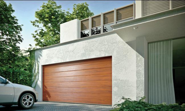 Porte de garage sectionnelle en Belgique