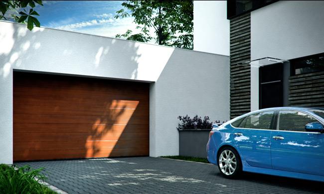 Porte sectionnelle pour un garage en Belgique