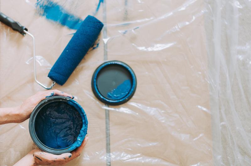 Mise en peinture lors d'une rénovation